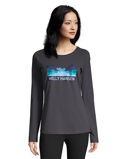 Helly Hansen Women's Nord Graphic Long Sleeve T Shirt - Ebony