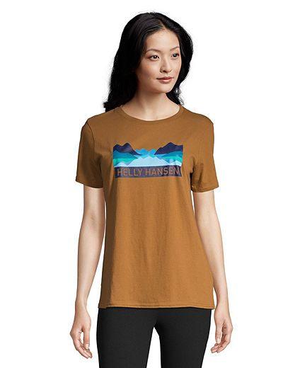 Helly Hansen Women's Nord Graphic T Shirt - Cedar Brown