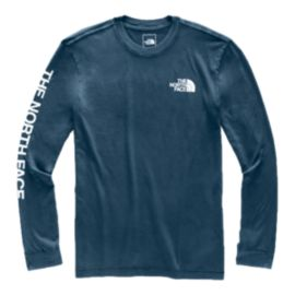 The North Face Men's Sleeve Hit Long Sleeve T Shirt - Blue/White