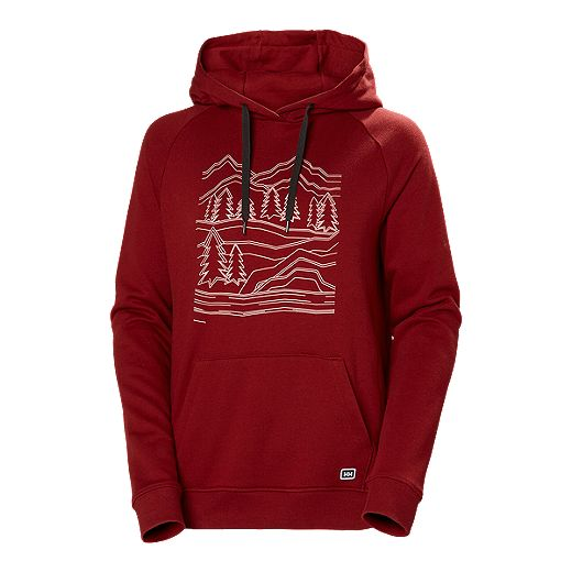 Helly Hansen Women's Fjord Til Fjell Cotton Hoodie - Oxblood