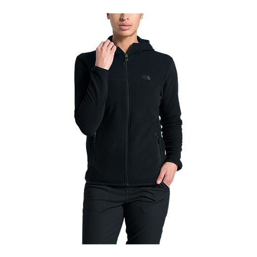 The North Face Women's TKA Glacier Full Zip Hoodie - Black