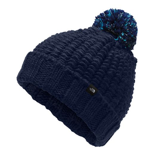 The North Face Women's Cozy Chunky Pom Beanie - Blue