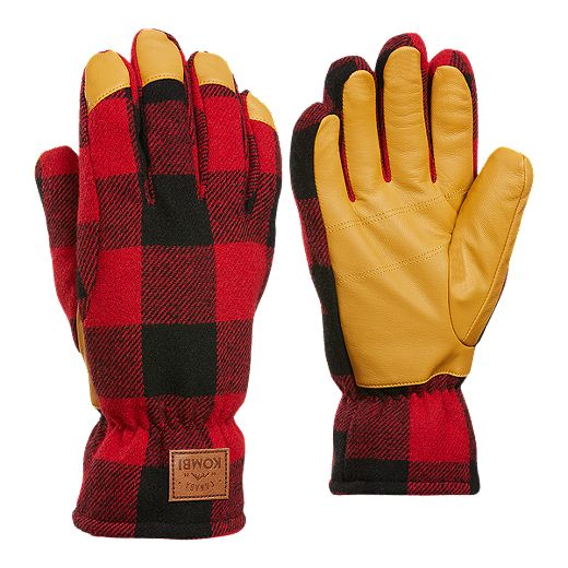 Kombi Men's Timber Glove - Red Buffalo Plaid
