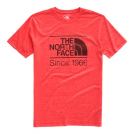 The North Face Men's Vintage Pyrenees Tri Blend T Shirt - Fiery Red Heather