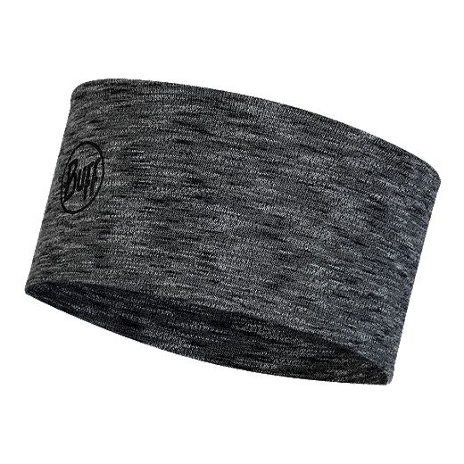 Buff Run Merino Wool Midweight Headband - Grey