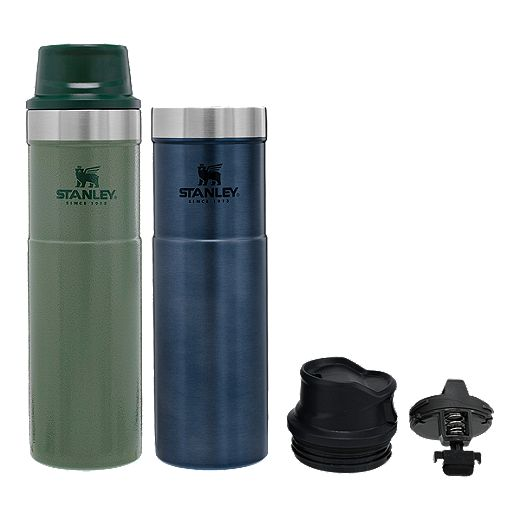 Stanley 20 oz Classic Trigger-Action Travel Mug - 2 Pack Green/Navy