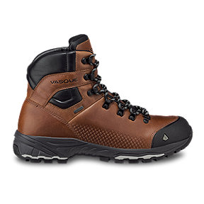 Vasque Men's St Elias Full-Grain Leather Gore-Tex Hiking Boots - Cognac