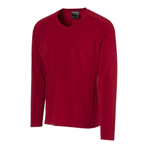 Sherpa Outdoor Men's Dullu Dunkel Long Sleeve T Shirt - Red