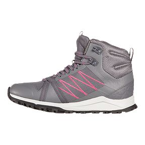 The North Face Women's Litewave Fastpack II Mid Waterproof Hiking Boots - Grey/Pink