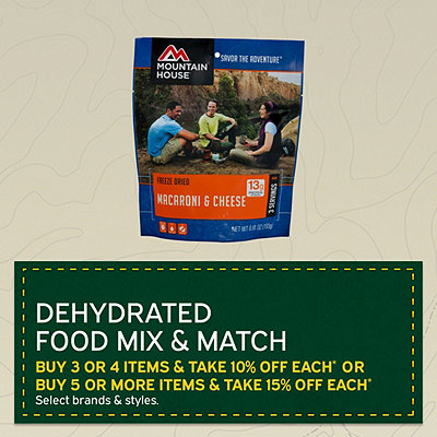 Dehydrated Food Mix & Match - Buy 3-4 Get 10% Off, Buy 5+ Get 15% Off*