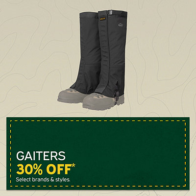 Select Gaiters 30% Off*