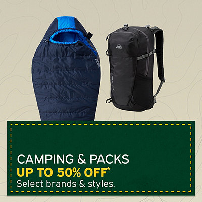 Select Camping & Packs Up To 50% Off*