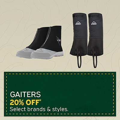 Select Gaiters 20% Off*