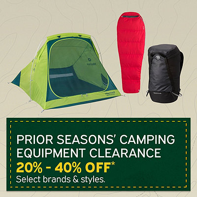 Select Prior Seasons Camping Equipment Clearance 20%-40% Off*