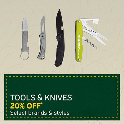 Select Tools & Knives 20% Off*