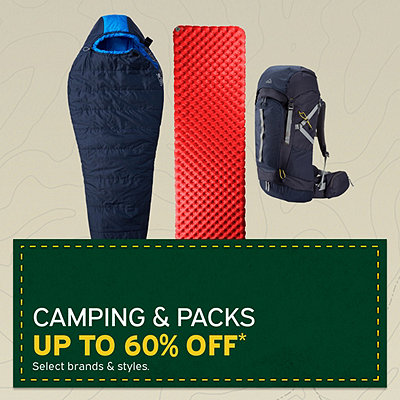 Select Camping & Packs Up To 60% Off*