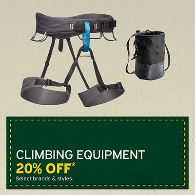 Select Climbing Equipment 20% Off*