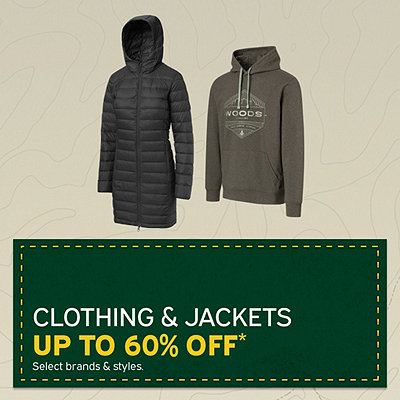 Clothing & Jackets up to 60% Off*