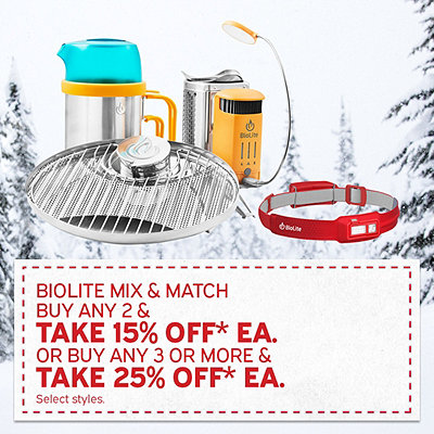 Select Biolite Buy 2 And Get 15% Off* Or Buy 3 Or More And Get 25% Off*