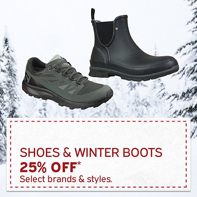 Women's & Men's Winter Boots & Shoes 25% Off*