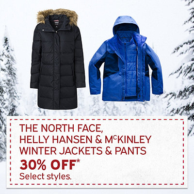 The North Face, Helly Hansen & McKINLEY Winter Jackets & Pants 30% Off*