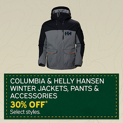 Columbia & Helly Hansen Winter Jackets, Pants & Accessories Additional 30% Off*