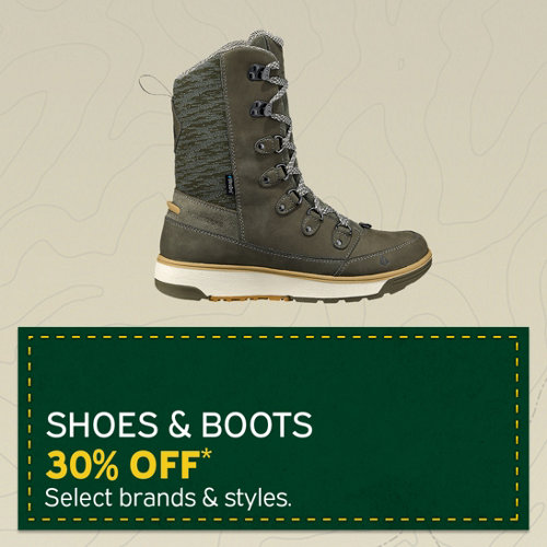 Shoes & Boots 30% Off* Select brands & styles.