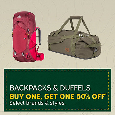 Backpack & Duffels BOGO 50% Off*