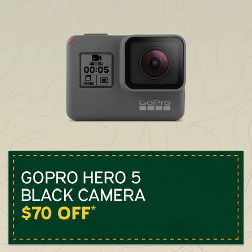 GoPro Hero 5 Black Action Camera $70 Off