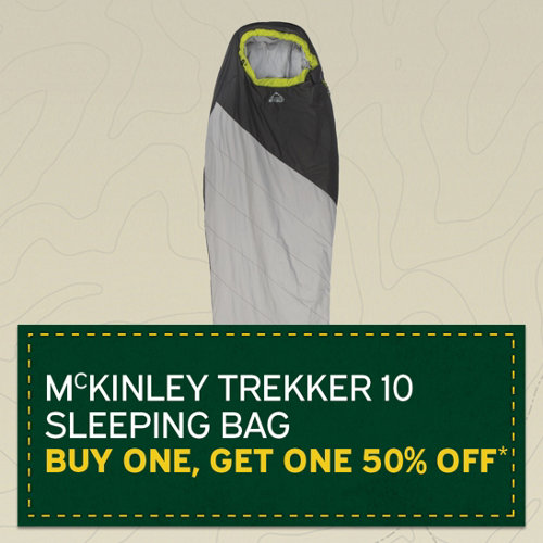 McKINLEY Trekker 10 Sleeping Bag Buy One, Get One Free
