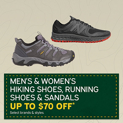 Men's & Women's Hiking Shoes, Running Shoes & Sandals Up to $70 Off*