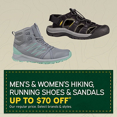 Men's & Women's Hiking and Running Shoes Up to $70 Off*