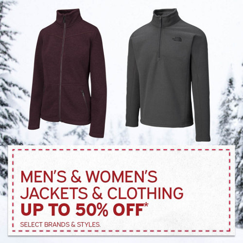 Men's & Women's Jackets & Clothing Up to 50% Off*