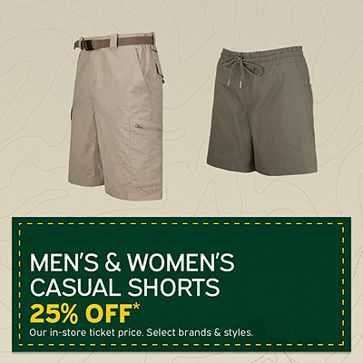 Men's & Women's Shorts 25% Off*