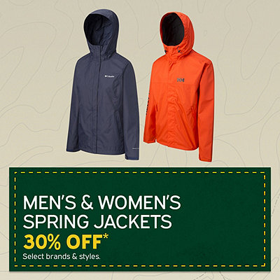 Men's & Women's Spring Jackets 30% Off*