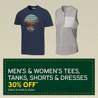 Men's & Women's Tees, Tanks, Shorts & Dresses 30% Off*