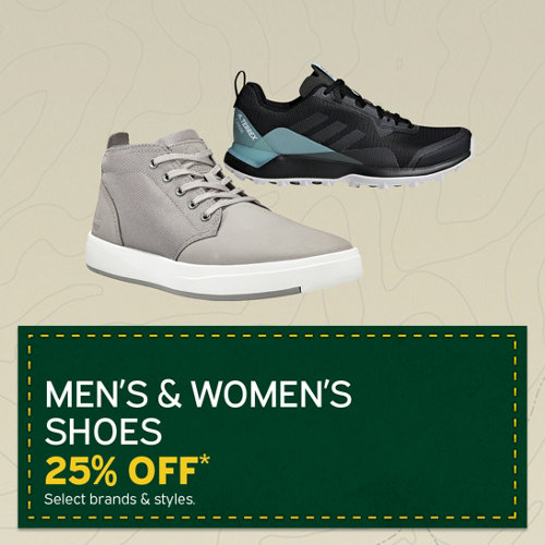 Men's & Women's Shoes 25% Off* Select Brands & Styles.