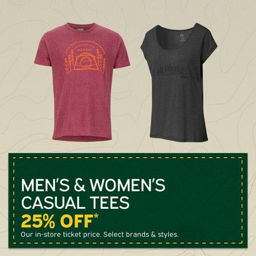 78cd9aaeaea Men s   Women s Casual Tees 25% Off . Select Styles.