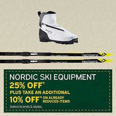 Select Nordic Ski Equipment 25% Off* OR Additional 10% Off* Already Reduced Items