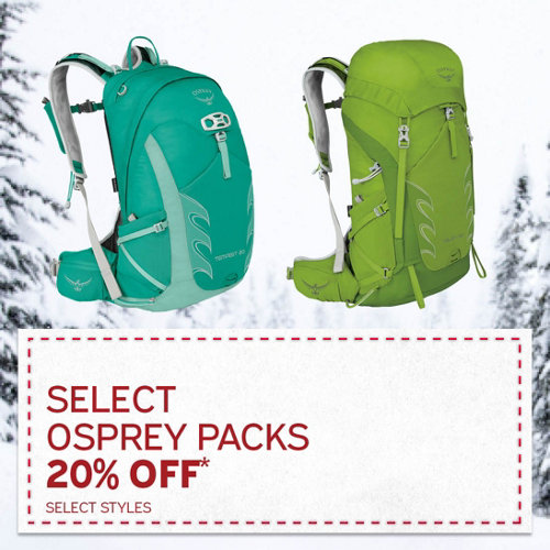 Select Osprey Packs 20% Off* Select Styles.