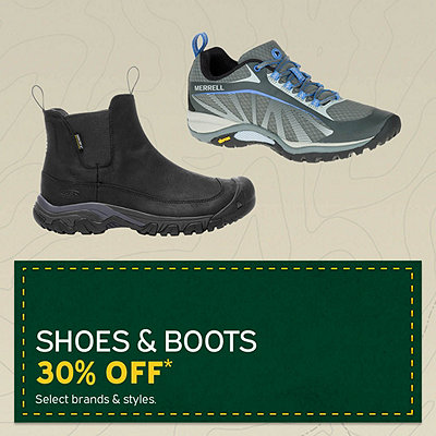 Men's & Women's Shoes and Boots 30% Off*
