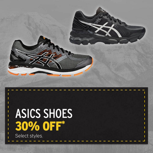 Asics Shoes 30% Off* Select Styles