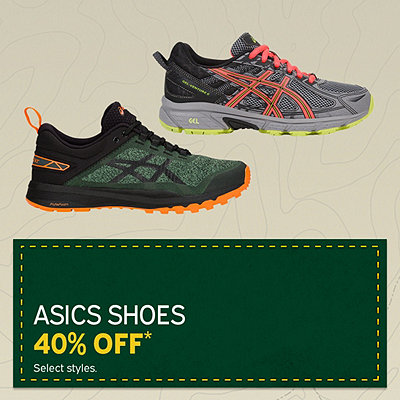 Select ASICS Shoes 40% Off*
