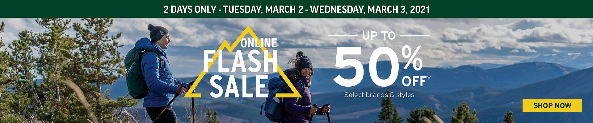2-Day Online Only Flash Sale up to 50% Off* at Atmosphere.ca