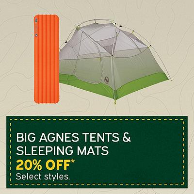 9a43d862518f9 Select Big Agnes Tents & Sleeping Mats 20% Off*