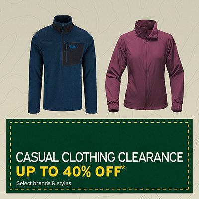 Men's & Women's Casual Clothing Clearance Up To 40% Off*