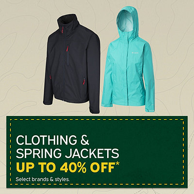 Men's & Women's Clothing & Spring Jackets up to 40% Off*
