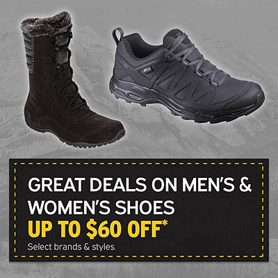 Select Men's & Women's Boots & Shoes Up to $60 Off*