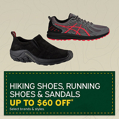 Men's & Women's Hiking Shoes, Running Shoes & Sandals Up to $60 Off*