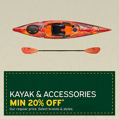 Select Kayak & Accessories Minimum 20% Off*